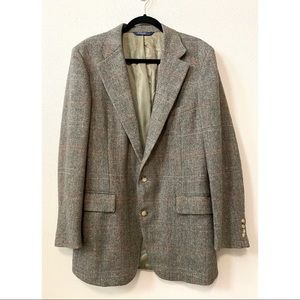 Vintage Polo Ralph Lauren 42 L Brown Tweed Jacket